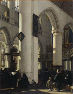 Interior of a Protestant Church in Amsterdam, Emanuel de Witte