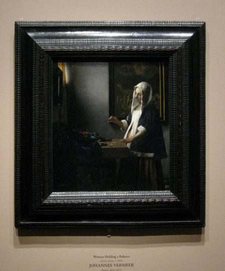 Woman Holding a Balance  Johannes VermeerVermeer Woman Holding A Balance
