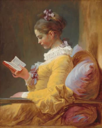 4a997f04ad Young Girl Reading, Fragonard