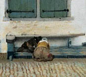 Detail of Vermeer's Little Street