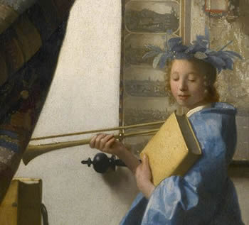 The Art of Painting (detail), Johannes Vermeer