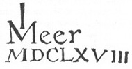 Facsimilae of the signature of Johannes Vermeer's Astronomer