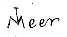 Vermeer's signature on The Milkmaid (Thore)