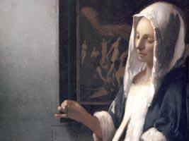 Woman Holding a Balance wallpaper, Johannes Vermeer